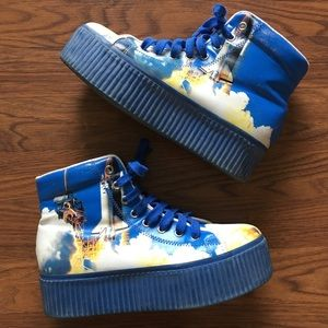 Jeffrey Campbell Shoes - Size 8 JC Play platform sneakers rocket ship